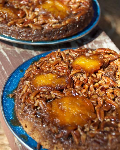 Apricot Upside Down Cake In Bunt Pan