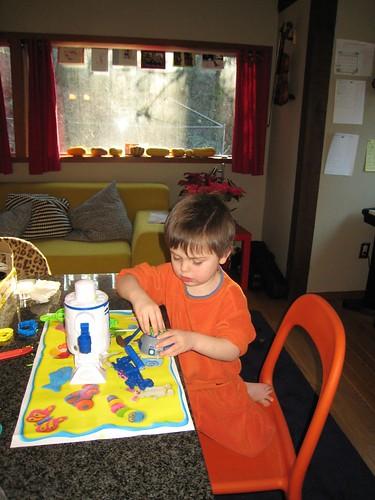 play doh, 3 year old, orange sweatshirt IMG_1870