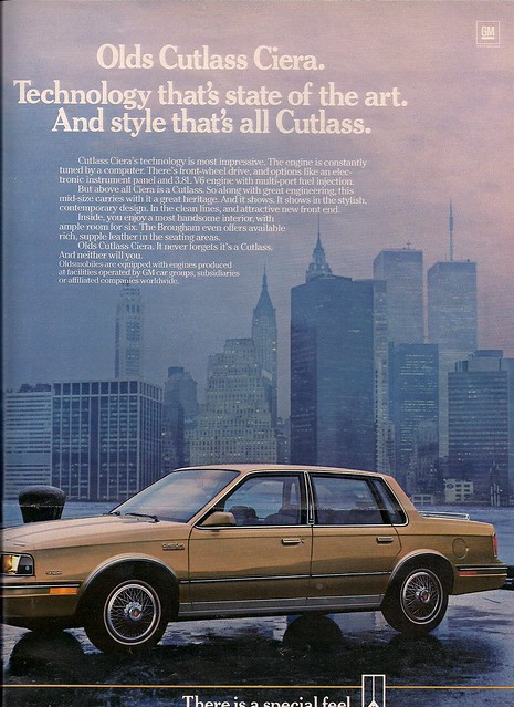 1985 Olds Cutlas Ciera Ad (WTC Views)