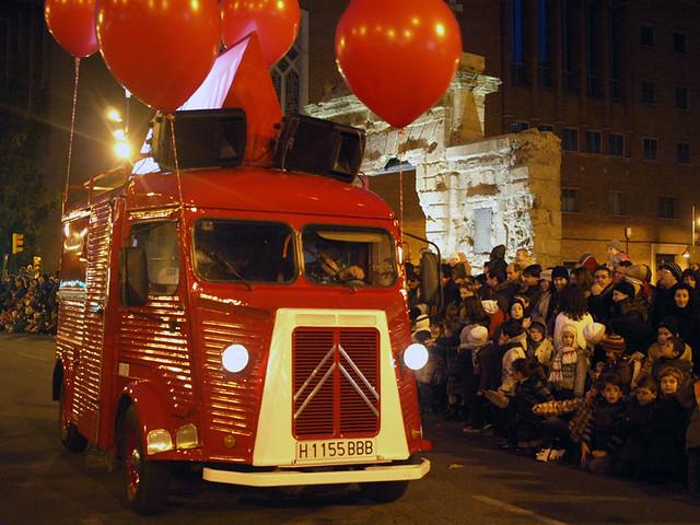 Cabalgata de los Reyes Magos de Zaragoza 2010.