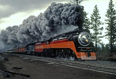 [Free Images] Transportation, Trains, Steam Locomotive, Southern Pacific 4449  ID:201204030000