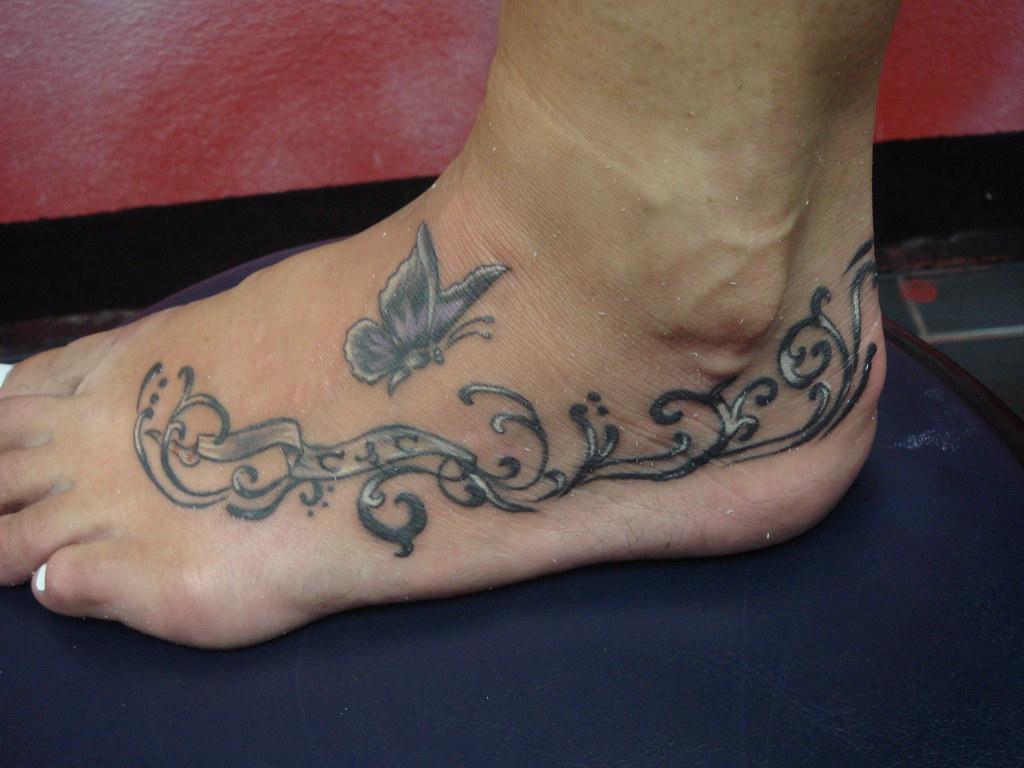 c263f9dcae393 ... butterfly on the foot (Dejavu Tattoo Studio Chiangmai Thailand) | by  augrust