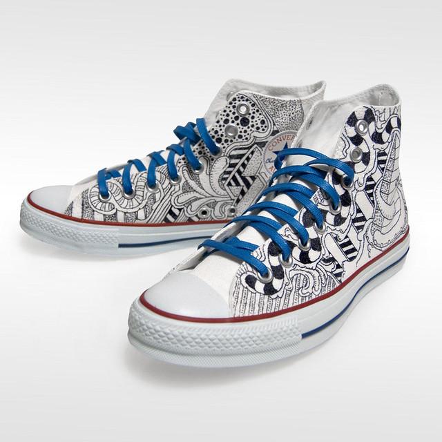 Converse Custom sketch High Tops Flickr Photo