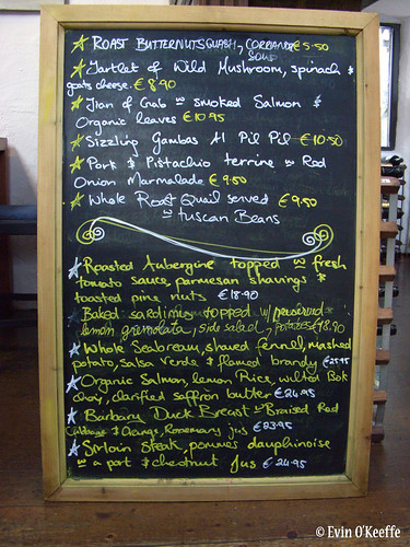 Daily Specials at Nimmo's in Galway
