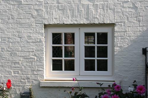 wood georgian window