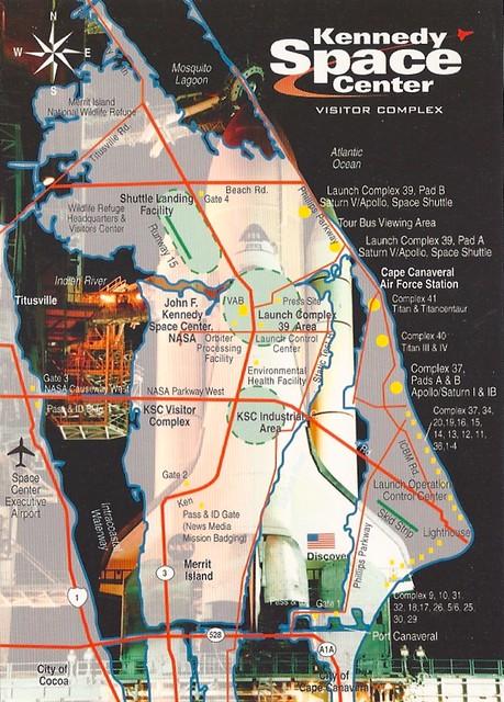nasa kennedy center in florida map - photo #11