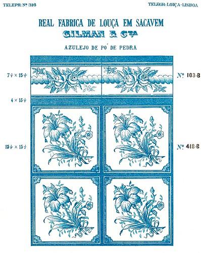 Maio 2011 mem rias e arquivos da f brica de loi a de sacav m for Catalogo de azulejos