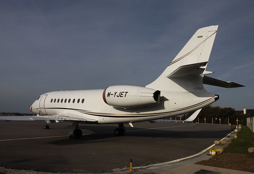M-YJET Dassault Falcon 2000EX by Guernsey Airport Photography
