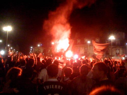 Place de la Victoire après le match