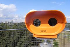 smiley happy binoculars