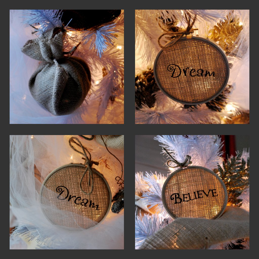 Diy burlap christmas decorations the for How to make burlap christmas decorations