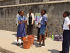 Primary pupils performing a drama/play on hygiene