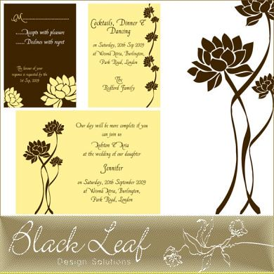 Description This charming Lotus Wedding Card Set are sure to add that