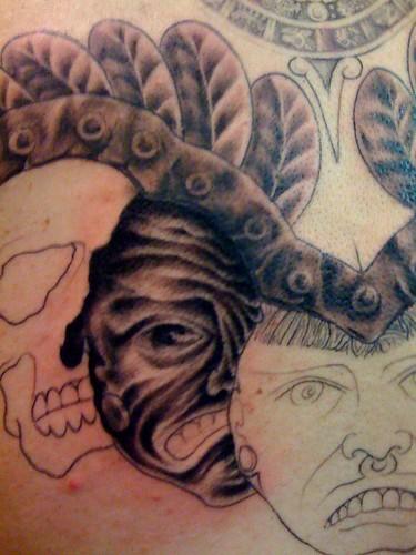 Under breast tattoos cross tattoo for men yaz l d vmeler for Aztec tattoo shop phoenix az