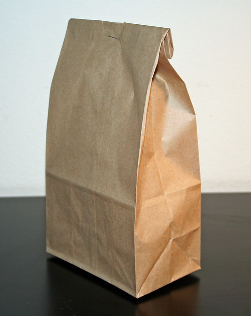 Brown Bag (with staple)