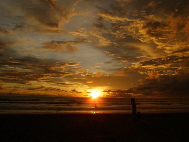 Sunset in Seminyak, Bali Island