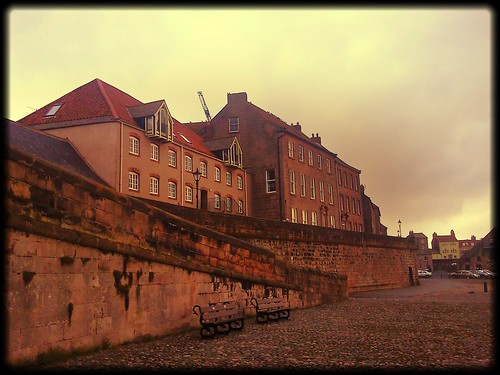 Berwick upon Tweed quayside and town walls