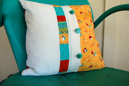 Flea Market pillow back