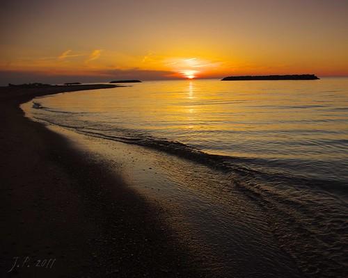 sunset lake water pentax pennsylvania pa erie curve da1855 ndgrad k200d cloudsstormssunsetssunrises