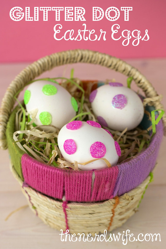 Glitter Dot Easter Eggs