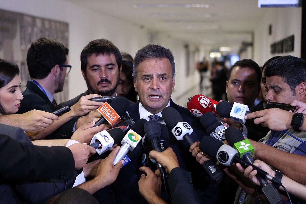 Supremo decide tornar Aécio Neves réu por crime de corrupção passiva, Coletiva senador Aécio Neves 21/02/17 - Sabatina Alexandre de Moraes