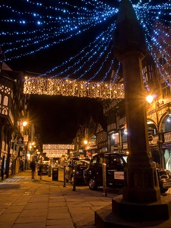 Christmas lights in Chester