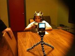 On set for a Grace Talks about food video show taping -  http://gracetalksaboutfood.com @dgtlpapercuts kid
