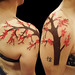 Cherry blossom freehand tattoo