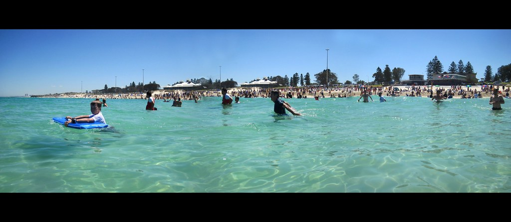 A Packed City Beach