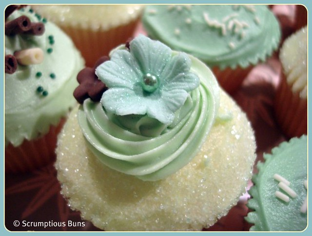 Pale Green Mini Cupcakes