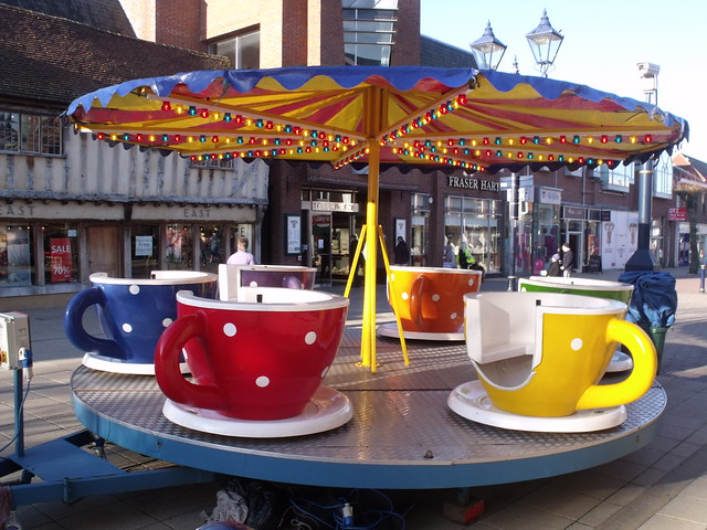 Tea Cup Ride on High Street, Solihull