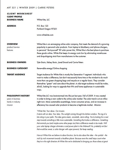 White Kite Business Proposal 1