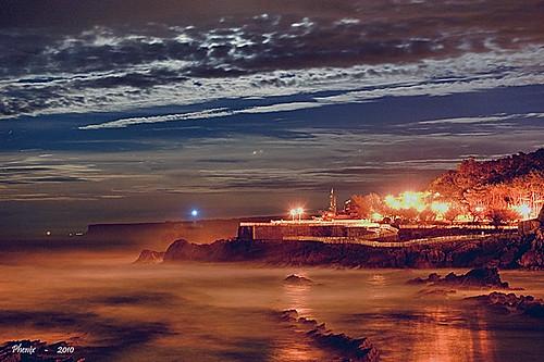 naturaleza luces noche agua nikon nikond50 nubes nocturna cielos santander playas cantabria mares oceanos marcantabrico palaciodelamagdalena efectoseda vitalalsar playadelcamello panoramafotográfico phenixsantander galeonesdevitalalsar