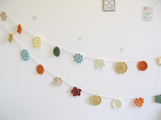 Ethel and Yvette crochet Forever Flower Garlands by Emma Lamb