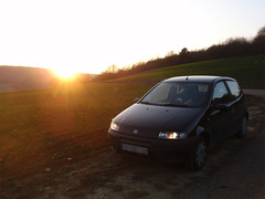 My FIAT Punto at sunset