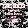 Endless Canvas & Railyard Gallery Presents - Special Delivery by SKAM sticker