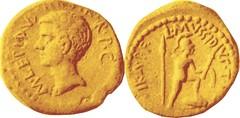 RRC 494/7 Aureus Lepidus Mars walking