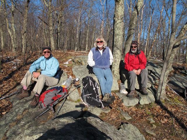 Loren, Dave and Richard on Caleb's Peak
