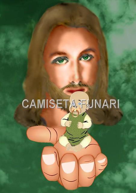 desenho jesus cristo bebe ceu mao deus
