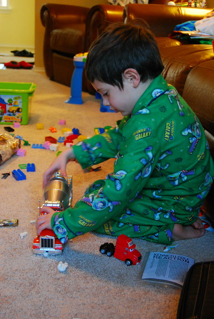 driving cement mixer