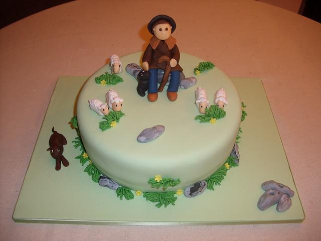 bolo O pastor e o seu rebanho