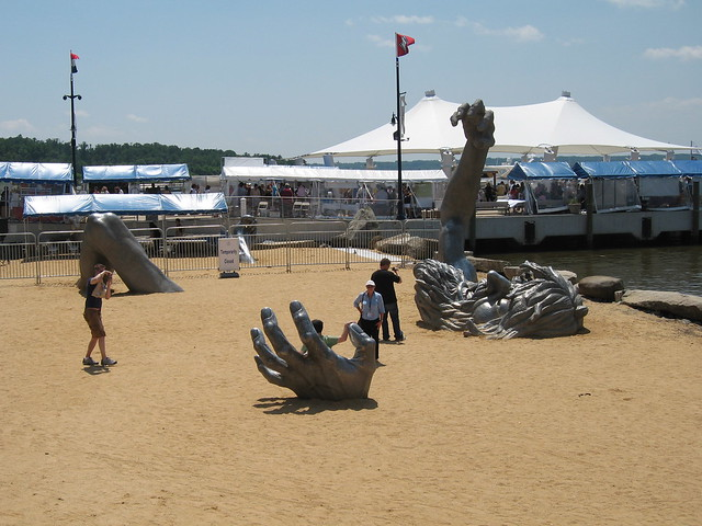 The awakening sculpture the awakening is a 100 foot for Awakening sculpture national harbor