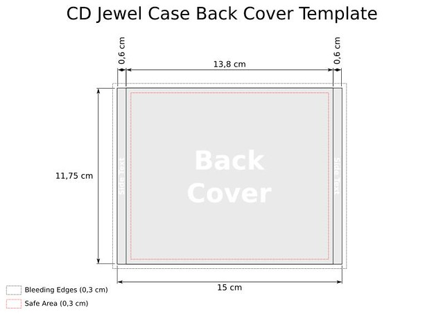 cd dimensions template - cd jewel case template