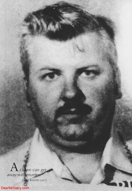 John Wayne Gacy Portrait - Grayscale