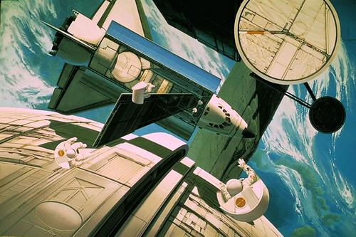 orbital assembly ...  Syd Mead