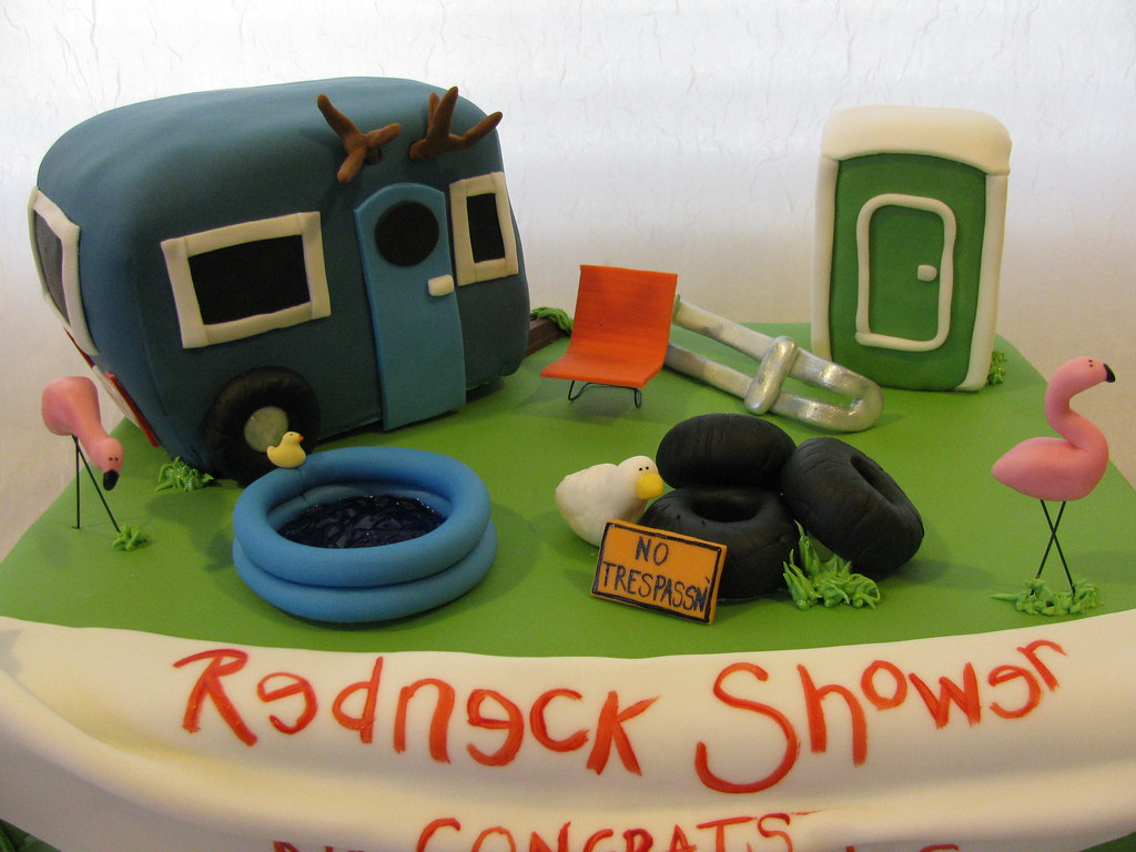 Redneck Wedding Shower Cake