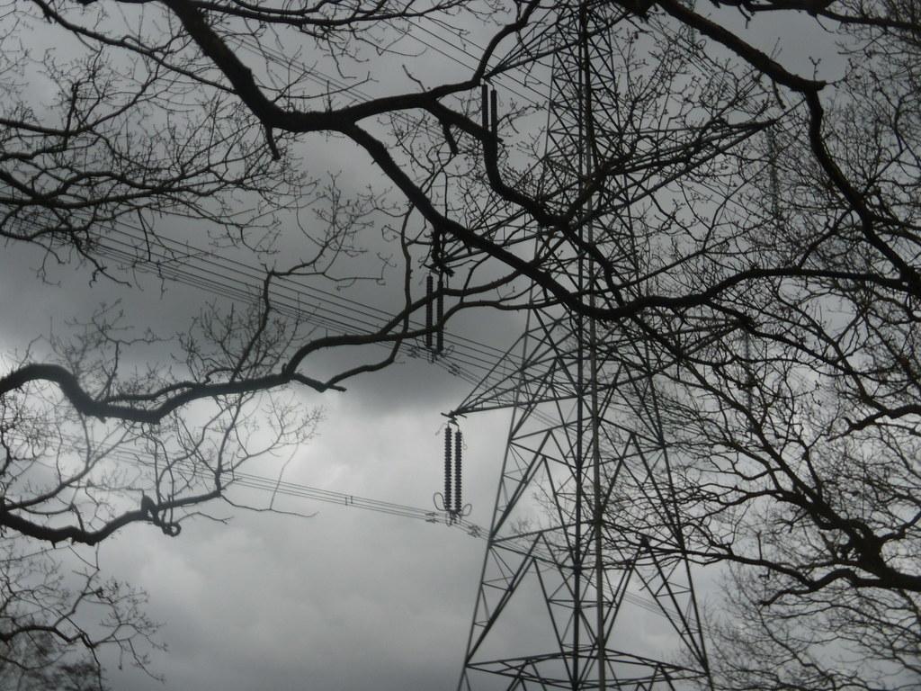 Pylon and branches Bures to Sudbury