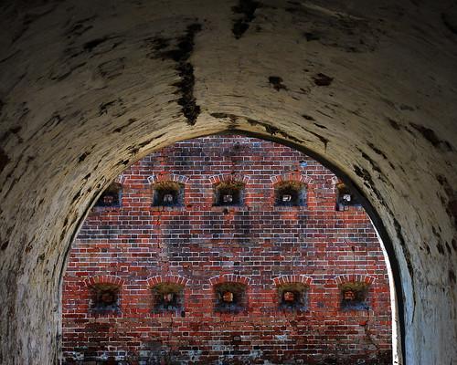 brick architecture war fort citadel military neworleans brickwork casemates fortpike