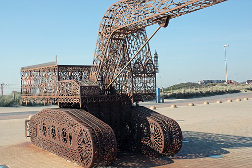 Gothic digging machine by Wim Delvoye