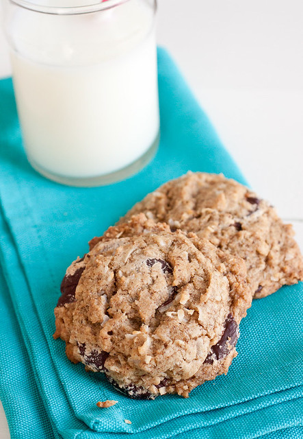 Espresso Dark Chocolate Coconut Cookies